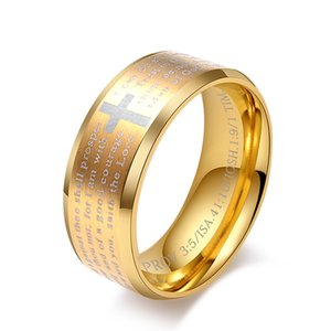Europe and The United States Titanium Steel Christian Church Believers Ring Charm Personality Fashion Jewelry Wholesale Free Mail