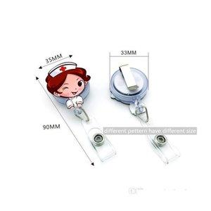 Cute Korea Badge Reel Retractable Pull Buckle Id Card Badge Holder Reels Belt Clip Hospital School Office Supplie jllHHG mx_home
