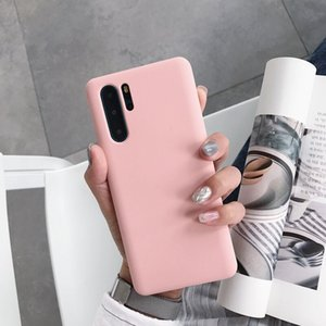 wholesale P30 Pro Case Silicone Soft TPU Cover case for huawei P30 Pro Matte Candy solid colors Cover Back Case