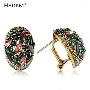 Madrry Vintage Rhinestone Küpe Renkli Kristal Kişilik Kadınlar Için Piercing Brincos Bijuterias Pendientes Drop Shipping1