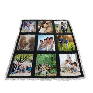 Sublimation Panel White Blank Blankets 125*150cm Sublimation Carpet Square Blankets Winter Warm Thermal 9 15 Plaid Blankets DDA826