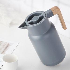 Стеклянные вакуумные колбы изоляции теплоснабжение 1л большие бытовые горячие воды горшок чайник офис кофе термический теплый бутылки двойная стена 201104
