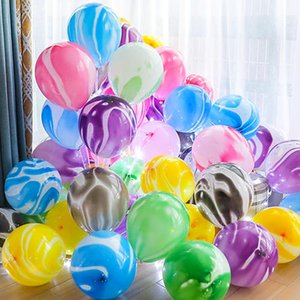5 10pcs 10 12Inch Colorful Agate Marble Latex Balloons Wedding Birthday Party Baby Shower Decoration Kid Favor Air Helium Globos