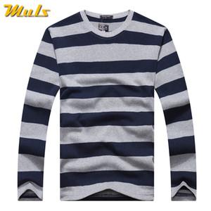 Algodón camisetas hombres manga larga para hombre tshirt primavera otoño marca rayas masculino t drills vestido global compras festival gota-nave