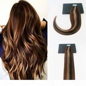 tape in hair extenions P#2#5#27 Brazilian Virgin Hair 100G 40Pcs Full Set Skin Weft Hair Extensions For Women