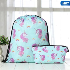 Hot Sale 2 PCS Set Outdoor Backpack Cat Giraffe Backpack For Traveling Or Shopping Daypacks School Bags Drop Shipping