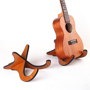 Portable Ukulele Wooden Foldable Holder Stand Collapsible Vertical Guitar Display Stand Rack Accessories Instrument Part