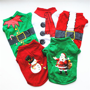 Christmas Dog Costume Fashionable Comfortable Pet Clothes Merry Christmas Xs s m l Dogs Cotton Costume Wholesale