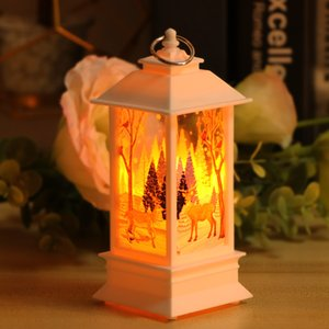 LED Fireplace Lantern Night Light Hanging Light Lamp Flamless Log Fire Effect Vintage Lamp Christmas Home Decor