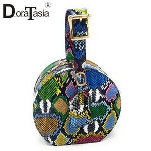Doratasia Brand New Women's Colorful Animal Print Mini borse Donne 2020 Cool Multicolor Multicolor Piccolo Tote Bag Signore Borsa a mano C1123