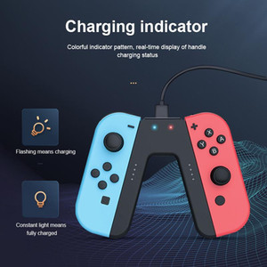 Fast Charging Handle Grip For Switch JoyCon Controller Charger Dock Station NS Gamepad Stand Holder