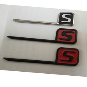 Chrome Black Red Letters S Ligneurs de coffre à coq Badges Emblems Badge Emblem pour Mercedes Benz C63S E63S CLS63S S63S GLE63S GLC63S