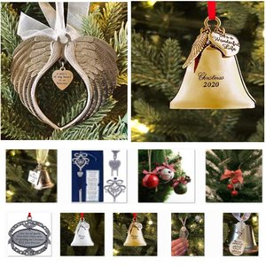 It is A Wonderful Life Wings Wind Bells Ribbon Christmas Tree Charm Pendant Gift Christmas Decoration HH9-3626