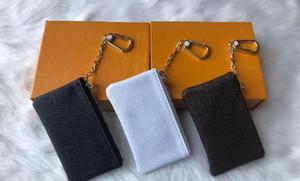 Diseñador de claves de claves carteras bolsa de cuero sostiene clásico diseñador de mujeres mini bolso llave titular monedero monedero pequeño monedero monedero 4 color lindo