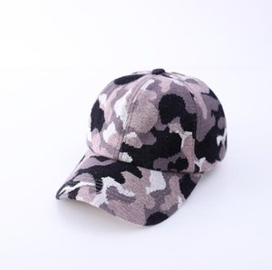 Ponytail Baseball Cap Knitting Criss Cross Washed Ball Caps Camouflage Pattern Fashion Camouflage High Messy Hat Supplies YYB3155