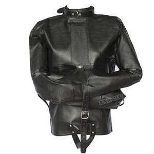 Adult sex game adjustable Bondage Jacket with Long Sleeves, Fetish costumes restraint straitjacket Sex Toys For Couple Y201118