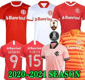 Новый 20 21 Club Internacional Soccer Jersey Red Home 2020 2021 прочь серый футбол рубашка женщина Н. Лопес Д.Алессандро Потткер Топ
