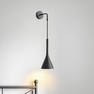 Lampade da parete lampada da letto lampada da letto del comodino Nordic Led Wall Light Indoor Hotel Guest Room Bedroom Headboard Book Read1