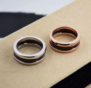 Bague en céramique large classique, hommes et femmes avec anneau en acier titane, bague d'amoureux en acier titane sans boîte