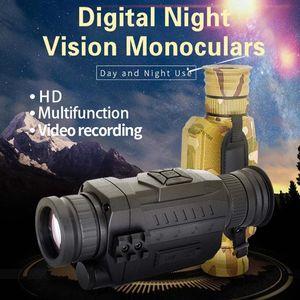 720P Outdoor Infrared Digital Night Vision Monocular 8X Digital Zoom 200M Range Camera Photo Recording Video