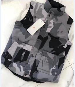 20SS New Mens freestyle real feather down Winter Fashion vest bodywarmer Advanced Waterproof Fabric FIRE FRHINOCEROSo