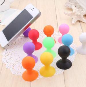 Colorful Universal Phone Holder Stander Monopod Mobile Phone Silicone Rubber Octopus Sucker Ball Stand Holder Mobile Phone Stand 200PCS