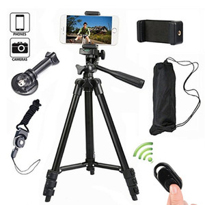 Tripod for Mobile Phone Stand DSLR Camera Aluminum Alloy Stick Bluetooth Monopod Tripode Para for IPhone Sony Gopro Selfie Stand