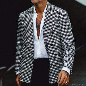 Herren Plaid Casual Anzug Jacke Europe und Amerikanisch Easy Matching Slim Blazer Mäntel Mode Männliche Kleidung