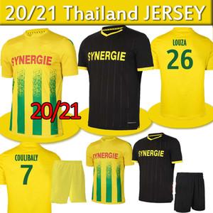 20 21 FC Nantes Soccer Jersey Home Maillot de Foot 2020 2021 Simon Louza A Toue Blas Coco Coco Coulibaly Shirts Football Hommes Kit Kit Thaïlande