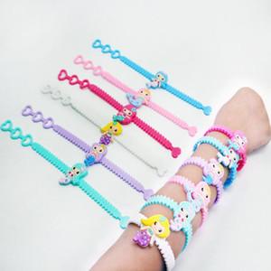 Neue Mode Nette Multicolor Mermaid PVC Kinder Armband Armband Armreif Geburtstagsfeier Home Schmuck Geschenk Freies Verschiffen