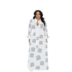 Women Camouflage Plus Size Dress With Sashes Lapel Neck Single Breasted Shirt Dresses Famale Autumn Clothes