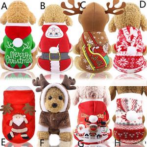 كلب سانتا ازياء عيد الميلاد خلع الملابس معاطف الديكور ملابس الحيوانات الأليفة هوديس جرو القطط شحن مجاني