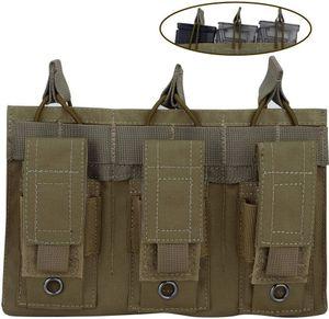 Открытый AOTACC Double / Triple Pouch, винтовка Kangaroo и Pistol Mag Soch для M4 M16 AK AR G36 9 мм .40 SW .45 ACP Magazi 1 N2OCV