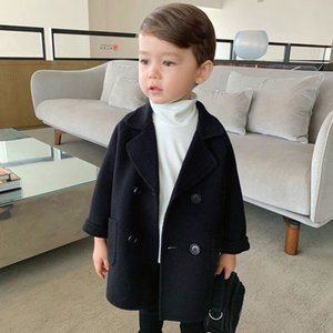 Autumn and Winter Toddler Wool Coat The New New Year Costume for Boy Double-sided Cotton Padded Wool Coat for Boys Y200901