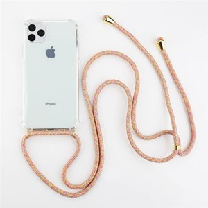 Strap Cord Chain Phone Tape Necklace Lanyard Mobile Phone Case for Carry Cover Case to Hang For iPhone XS Max XR X 11 8 6s Plus