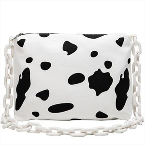 Designer-Aelicy womens Messenger Shoulder Bag Cow Dots Printing Women Bag Large Capacity Canvas Zipper Bag Crossbody For Female
