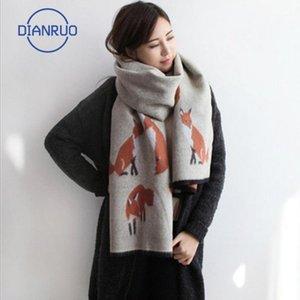 DIANRUO Hohe Qualität Kaschmir Schal Mode BIB Damen doppelseitig verdammter Quaste Tuch Q3381