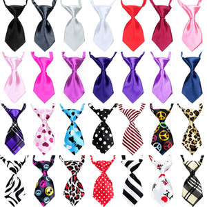 59 estilos de cão de estimação gato gravata gravata roupas filhote de cachorro vestido up pescoço gravata listrado xadrez estilo leopardo atacado gravata criança dhd4585