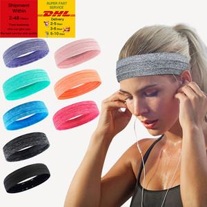 Outdoor Sports Headband Portable Fitness Hair Bands Man Woman Hair Wrap Brace Elastic Cycling Yoga Running Exercising Sweatband DHL Free
