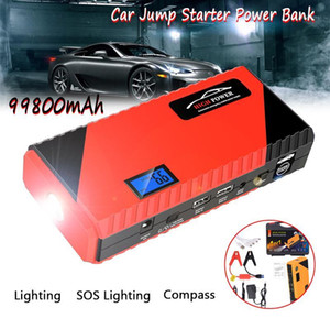 Car Jump Starter Battery Power Bank 99800mAh 12V 600A LED Daul USB Emergency Charger Portable Car Battery Jump Starter1