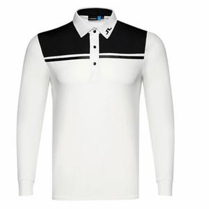 Primavera e outono nova manga longa t-shirt de golfe 4 cores jl homens esportes roupas de golfe de lazer ao ar livre camisa de colarinho livre frete grátis