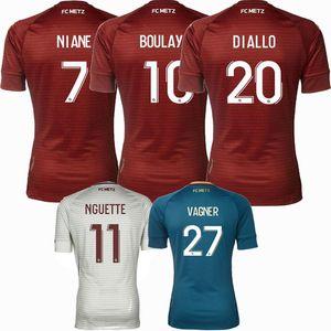 2020 2021 FC Metz Soccer Jerseys Boulaya Thierry Nguette Ambrose Vagner PAJOT 20 21 Camisa de deportes de fútbol S-2XL