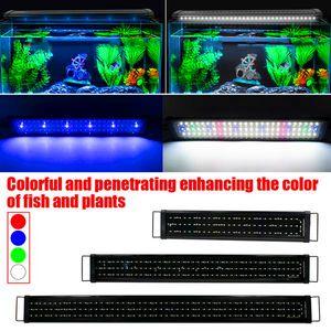 Newest Design 24W 156LED Full Spectrum Water Lamp 47.2inch Black US Standard Aquarium Lights (Suitable For 47.2-55.1inch Long Aquarium)
