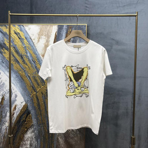 2021 NUEVO Europa Londres Spring Verano Dibujos animados Divertido Backward Yoga Boy Print T Shirt Moda Algodón Tee T Shirt T Shirt Tshirt Casual Tshirt