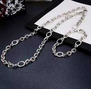 Yeni Ürün Moda Kolye Gümüş Kaplama Kolye Yüksek Kalite Trend Çift Zincir Kolye Uzun Takı Tedarik Toptan