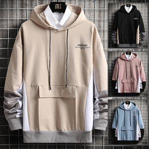 Fashion Men's Hoodies Spring Autumn Korean Style Men Clothing Sweatshirts Casual Splicing Long sleeve Tops Hoodie Men
