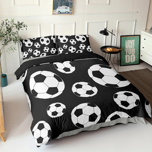 3D Football Bedding Set Soccer Duvet Cover with Pillowcase Shame Twin Full Kids Comforter Cover Queen King Size Gifts Z1123