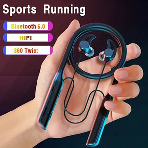 Wireless bluetooth headset neck-mounted sports magnetic stereo cinema headset