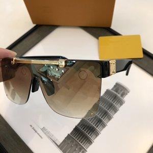 Сексуальные квадратные солнцезащитные очки Дамы Пилотные Солнцезащитные очки Металлические Женщины Мужчины Goggle Градиент Солнцезащитные Очки Один кусок Женские Зеркальные оттенки UV400
