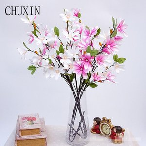 Special offer 90cm high quality silk magnolia artificial decoration wedding bridal flower simple style orchid home decoration